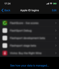 Apple ID logins